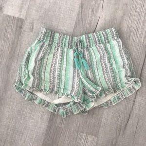 Colorful fringe shorts